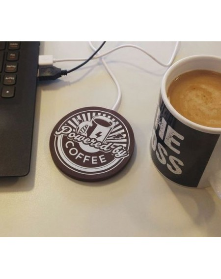 "Calienta tazas USB ""Powered by Coffee"""