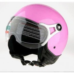 CASCO moto color rosa.