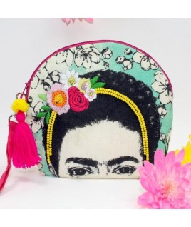 Neceser bordado FRIDA KAHLO de Disaster Designs